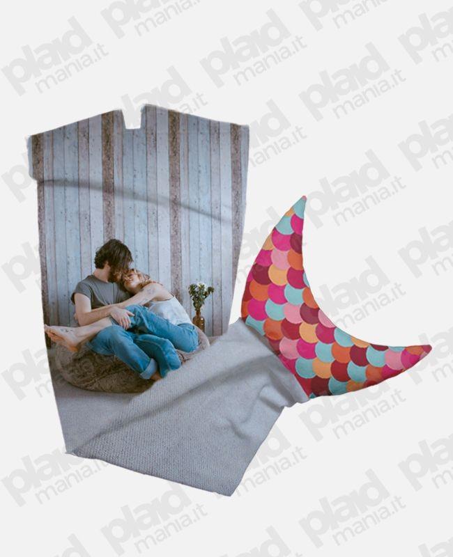 Plaid coda di sirena personalizzato con foto