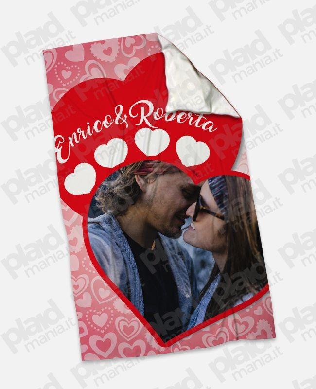 Plaid Singolo Maxi 100x180 personalizzati con grafiche e foto d'amore