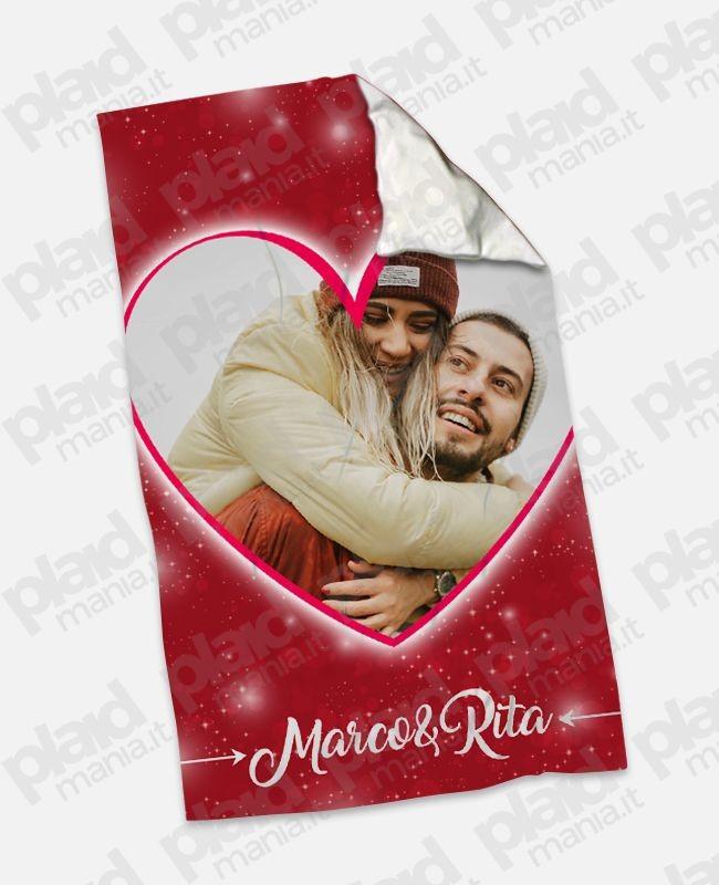Plaid Singolo Maxi XL 130x180 personalizzati con grafiche e foto d'amore