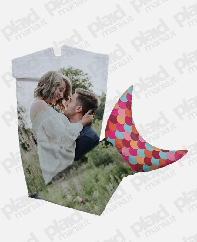Plaid coda di sirena personalizzati con foto