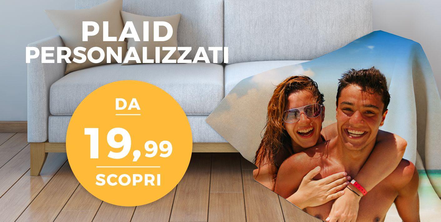 Plaid Personalizzati con foto a partire da 19,99 €